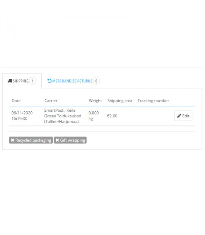 Itella SmartPost Eesti pakiautomaatide moodul PrestaShopile