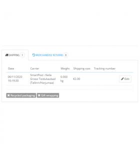 Itella SmartPost Eesti pakiautomaatide moodul PrestaShop 1.7